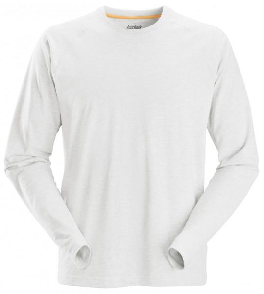 Snickers AllroundWork langarm Baumwoll-Shirt Weiß