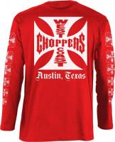 WCC West Coast Choppers Longsleeve OG Logo ATX Red