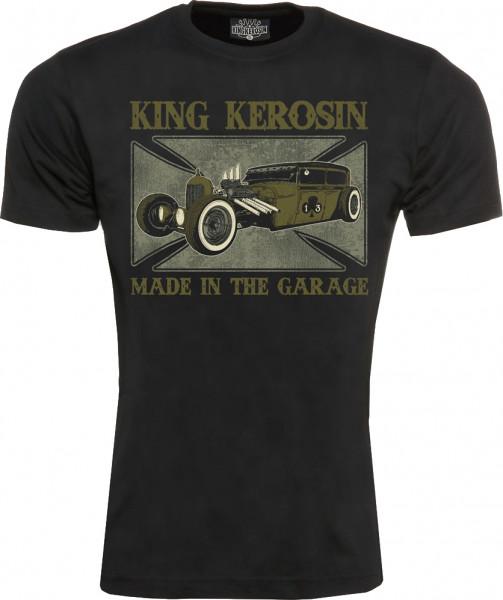 King Kerosin T-Shirt Made In The Garage Black