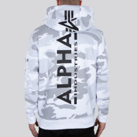 Alpha Industries Sweatshirt Back Print Hoody Camo White Camo