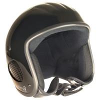 Bores Helm SRM Slight 3 Finale Jethelm mit Textil Innenfutter glänzend Schwarz