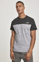 Southpole T-Shirt Color Block Tech Tee Marled Grey