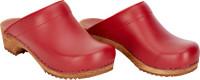 Sanita Damen Offener Clog Wood-Lotte Open Red
