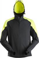 Snickers Workwear FlexiWork Neon Zip Hoodie Navy/Neongelb