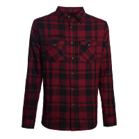 WCC West Coast Choppers Flannel La Bomba Herringbone Red/Black