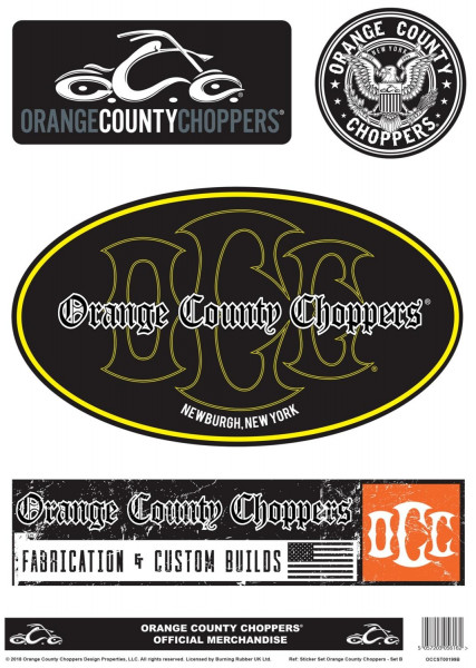 OCC Orange County Choppers Sticker Set B A4 Sheet