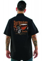 Lucky 13 Workshirt Rust never sleeeps