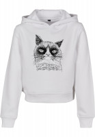 Mister Tee Kids Unhappy Cat Cropped white