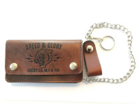 Lucky 13 Wallet Portemonnaie Panther Head Vintage Antique Brown