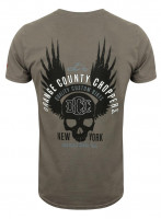 OCC Orange County Choppers T-Shirt Winged Skull Grey