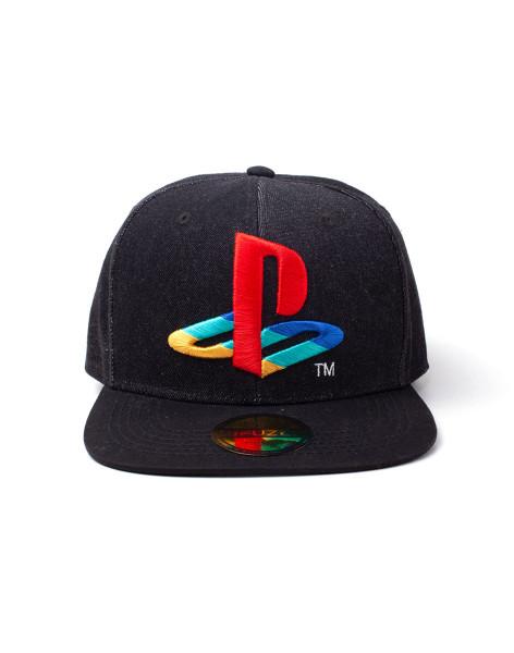 Playstation Cap Playstation - Logo Denim Snapback Cap Black