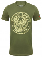 OCC Orange County Choppers T-Shirt Eagle Military Green