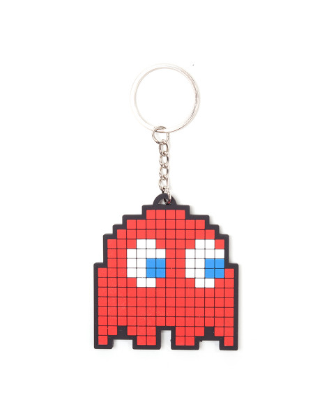 Pacman Keychain Blinky Rubber Red