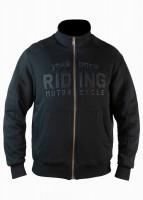 John Doe Motorrad Sweater / Pullover Stand Up Neck Riding-XTM Black