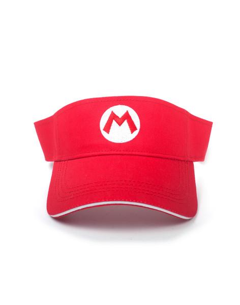 Super Mario Headwear Other Super Mario Badge Tennis Visor Red