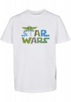 Mister Tee T-Shirt Kids Star Wars Colorful Logo Tee white