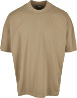 Urban Classics T-Shirt Oversized Mock Neck Tee Khaki
