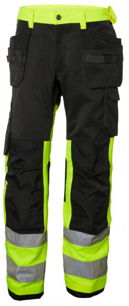Helly Hansen Shorts / Hose 77412 Alna Cons Pant Cl 1 369 HV Yellow/Charcoal