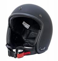 Bores Helm Bogo 4 Jethelm mit Leder Innenfutter matt Black