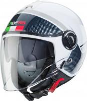 Caberg Jethelm Riviera V4 Elite Italia Weiß/Rot/Grün