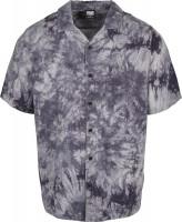Urban Classics Hemd Tye Dye Viscose Resort Shirt Dark