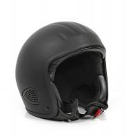 Bores Motorrad Helm Gensler Kult Jethelm, ECE 22.05 matt Black
