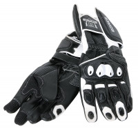 Bores Motorradhandschuhe Race Leder Handschuhe Black/White