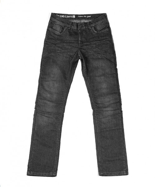 Grand Canyon Motorrad Hose Trigger Jeans Kurz Black