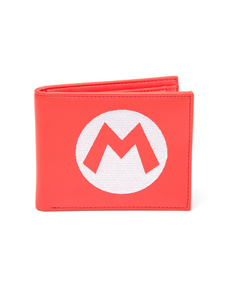 Nintendo Wallet Super Mario Red Bifold With Symbol Embroidery Red