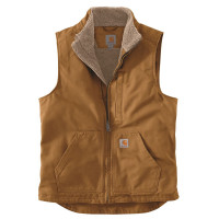 Carhartt Weste Washed Duck Lined Mock Neck Vest Carhartt® Brown