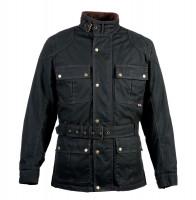Bores Jacket Trophy Pro 2 Classic Herren Wachsjacke lang Black