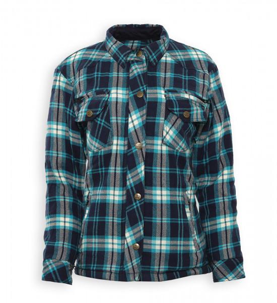 Bores Female Lumberjack Damen Jacke Hemd in Holzfäller Optik Blue-XS
