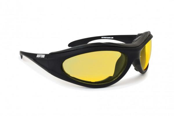 Bertoni Brillen Antifog Af125A Gummischwarz/Gelb