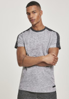 Southpole T-Shirt Shoulder Panel Tech Tee Marled Grey
