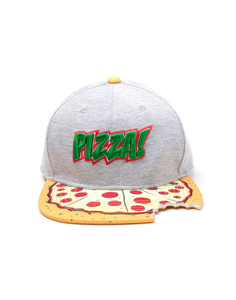 Teenage Mutant NT - Retro/Clas Cap Pizza Snapback with Cut Out Multicolor