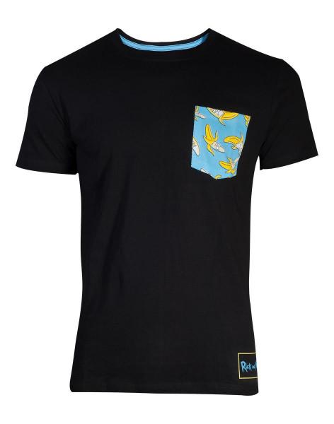 Rick & Morty - Banana Pocket T-Shirt Black