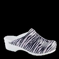 Sanita Clogs Damen Sandalen Zebra Rose